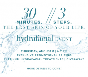 Join us for our Hydrafacial Event